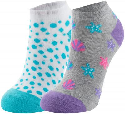 Носки для девочек Skechers, 2 пары, размер 24-35