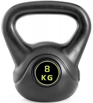 Гиря Kettler Basic, 8 кгГиря kettler basic для функционального тренинга. Удобная рукоять позволяет выполнять упражнения с гирей как одной, так и двумя руками.<br>Вес, кг: 8; Покрытие: Пластик; Состав: Пластик, минеральный наполнитель; Вид спорта: Силовые тренировки, Фитнес; Производитель: Kettler; Срок гарантии: 2 года; Артикул производителя: 7373-870; Страна производства: Китай; Размер RU: Без размера;