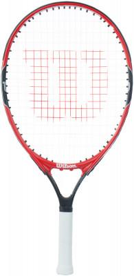 Ракетка для большого тенниса детская Wilson Roger Federer 21Первая ракетка, которую взял в руки роджер федерер, была марки wilson.<br>Вес (без струны), грамм: 195; Размер головы: 581 кв.см; Длина: 21; Материалы: Алюминий; Наличие струны: В комплекте; Вид спорта: Большой теннис; Производитель: Wilson; Артикул производителя: WRT218500; Срок гарантии: 2 года; Страна производства: Китай; Размер RU: Без размера;