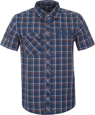 Рубашка мужская Outventure, размер 56Рубашки<br>Рубашка с коротким рукавом от outventure - отличный выбор для походов практичность на груди расположено 2 кармана.
