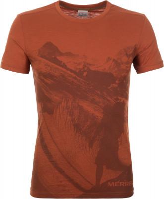 Футболка мужская Merrell, размер 50Футболки<br>Практичная футболка для путешествий и долгих летних прогулок от merrell. Натуральные материалы ткань выполнена из натурального хлопка и приятна к телу.