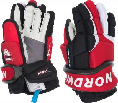Перчатки хоккейные детские NordwayХоккейные перчатки надежно защищают руки и нижнюю часть предплечье спортсмена во время игр и тренировок.<br>Пол: Мужской; Возраст: Дети; Вид спорта: Хоккей; Материал верха: Полиэстер; Материал наполнителя: Вспененный материал этиленвинилацетат, полиэтилен, пена двойной плотности; Материал подкладки: Полиэстер; Материалы: полиуретан, полиэстер, пеноматериал; Вентиляция: Есть; Производитель: Nordway; Артикул производителя: HGJ16-11; Срок гарантии: 2 года; Страна производства: Китай; Размер RU: 11;