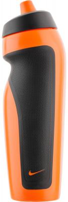 Бутылка для воды Nike Accessories, оранжеваяБутылка для воды nike герметичный клапан не позволяет воде расплескиваться; объем 600 мл; асимметричный дизайн для одной руки обеспечивает удобство при использовании во врем<br>Состав: 59 % полиэтилен, 24 % термопластик эластомер, 16 % полипропилен, 1 % силикон; Объем: 0,6 л; Вид спорта: Фитнес; Производитель: Nike Accessories; Артикул производителя: 9.341.009.710.; Размер RU: 600 мл;