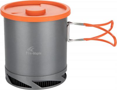 Котел аннодированный Fire-Maple FMC-XK6Посуда<br>Очень легкий и удобный котелок объемом 1 л от fire-maple со встроенной теплообменной системой и ветрозащитным экраном.