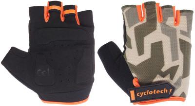 Перчатки велосипедные Cyclotech RazorВелосипедные перчатки cyclotech не дают рукам скользить на руле. Особенности модели: гасят неприятные вибрации; комфортная посадка; хорошая вентиляция.<br>Материал верха: 50 % искусственная кожа, 35 % эластан, 15 % нейлон; Тип фиксации: Липучка; Производитель: Cyclotech; Артикул производителя: 15RAZ-OR-M; Страна производства: Пакистан; Размер RU: 7;