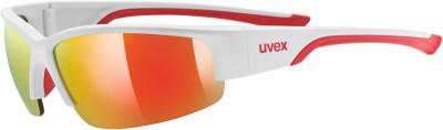 Солнцезащитные очки Uvex Sportstyle 215Универсальные очки uvex для защиты от солнца и занятий спортом.<br>Возраст: Взрослые; Пол: Мужской; Цвет линз: Красный; Цвет оправы: Белый матовый, красный; Назначение: Бег, велоспорт; Ультрафиолетовый фильтр: Да; Поляризационный фильтр: Нет; Зеркальное напыление: Да; Категория фильтра: 3; Материал линз: Поликарбонат; Оправа: Пластик; Вид спорта: Бег, Велоспорт; Технологии: LITEMIRROR; Производитель: Uvex; Артикул производителя: 0617.8316; Срок гарантии: 1 месяц; Страна производства: Тайвань; Размер RU: Без размера;