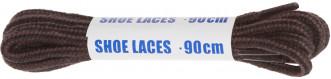 Шнурки черно-коричневые круглые Woly Sport, 90 см