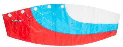 Воздушный змей TorneoУправляемый воздушный змей от компании torneo выполнен в цветах российского триколора. Изготовлен из прочного каркаса диаметром 4 мм, легко разбирается и собирается.<br>Размеры (дл х шир х выс), см: 200 x 70; Состав: Кайт: 100% полиэстер / Ручка: полипропилен / Стропа: 100% полиэстер; Вид спорта: Игры на улице; Производитель: Torneo; Артикул производителя: TRN-1093; Срок гарантии: 1 год; Страна производства: Китай; Размер RU: Без размера;