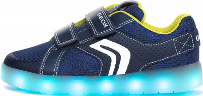 Кеды для мальчиков Geox Kommodor, размер 37Кеды <br>Веселые и яркие кроссовки с подсветкой от geox. Модель с подсветкой светодиодные лампочки создают особое настроение. Предусмотрено 7 вариантов расцветки и 4 режима мерцания.