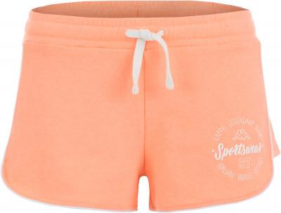 Шорты женские Kappa, размер 44Шорты<br>Отличная основа твоего летнего образа в спортивном стиле - эффектные шорты от kappa.