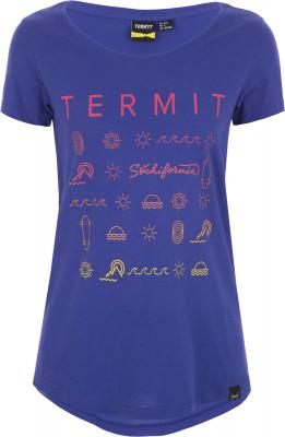 Футболка женская Termit, размер 50Skate Style<br>Фирменная футболка termit sochifornia для ярких и активных девушек. Свобода движений крой позволяет двигаться свободно и естественно.