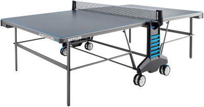 Теннисный стол Kettler Indoor 4Теннисный стол для закрытых помещений. Удобство пользования встроенная сетка регулируется по высоте и натяжению.<br>Размер в рабочем состоянии (дл. х шир. х выс), см: 274 х 152,5 х 76; Размер в сложенном виде (дл. х шир. х выс), см: 68 х 183 х 165; Вес, кг: 86; Складная конструкция: Есть; Блокиратор в механизме складывания: Есть; Регулировка высоты стола: Есть; Держатель мячей и ракеток: Есть; Труба: Овальная; Диаметр трубы: 45 х 17 мм; Материал каркаса: Сталь; Толщина игровой плиты, мм: 19; Позиция Playback: Есть; Антибликовое покрытие: Есть; Защитная окантовка плиты: 30 мм; Игровая поверхность: Плита ДСП; Транспортировочные ролики: Есть; Блокиратор колес: Есть; Диаметр колес: 14 см; Материал колес: Резина; Сетка в комплекте: Есть; Регулировка высоты сетки: Есть; Вид спорта: Настольный теннис; Производитель: Heinz-Kettler GmbH &amp; CO.KG; Артикул производителя: 7132-900; Срок гарантии: 3 года; Страна производства: Германия; Размер RU: Без размера;