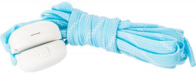 Шнурки светодиодные детские I-JumpШнурки со встроенными светодиодами разработаны специально для увеличения безопасности при занятии спортом в условиях плохой видимости.<br>Пол: Мужской; Возраст: Дети; Вид спорта: Аксессуары; Материалы: 35 % нейлон, 20 % пластик, 18 % полиэтилентерефталат, 10 % провод МГТФ, 10 % светодиоды, 7 % картон; Длина: 90 см; Производитель: I-Jump; Артикул производителя: ND-004-090-BLUE; Страна производства: Китай; Размер RU: 90;