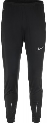 Брюки мужские Nike EssentialБеговые брюки из влагоотводящей ткани от nike. Отведение влаги ткань с технологией nike dri-fit эффективно отводит влагу и обеспечивает вентиляцию.<br>Пол: Мужской; Возраст: Взрослые; Вид спорта: Бег; Силуэт брюк: Зауженный; Светоотражающие элементы: Да; Количество карманов: 3; Материал верха: 100 % полиэстер; Технологии: Nike Dri-FIT; Производитель: Nike; Артикул производителя: 856898-010; Страна производства: Камбоджа; Размер RU: 52-54;