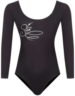 Купальник гимнастический с длинным рукавом для девочек Demix, размер 128