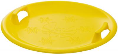 Санки-тарелка ПчёлкаПластиковые санки для детей от трех лет. Комфорт использования глянцевая поверхность пластика подходит для быстрого и комфортного катания.<br>Максимальный вес пользователя: 100 кг; Габаритный размер: D 60 см; Количество мест: 1; Морозоустойчивость: До -30; Вид спорта: Санки и снегокаты; Производитель: Пчёлка; Артикул производителя: IDA-2-1TX; Страна производства: Россия; Размер RU: Без размера;
