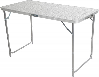 Стол OutventureПрактичный и прочный складной стол со столешницей из мдф станет незаменимой вещью для кемпинговой кухни. Комфорт размеры столешницы позволяют разместиться большой компании.<br>Срок гарантии: 2 года; Вид спорта: Кемпинг; Вес, кг: 5,7; Максимальная нагрузка, кг: 30; Размер в рабочем состоянии (дл. х шир. х выс), см: 120 х 60 х 70; Размер в сложенном виде (дл. х шир. х выс), см: 64 х 9 х 63; Материал каркаса: Алюминий; Материал столешницы (для столов): Алюминий; Производитель: Outventure; Пол: Мужской; Размер RU: Без размера;