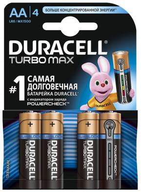 Батарейки щелочные Duracell Turbo AA/LR06, 4 шт.