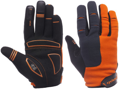 Перчатки велосипедные Cyclotech NitroВело перчатки с длинными пальцами cyclotech. Особенности модели: система вентиляции; силиконовые элементы; анатомический крой; липучка на манжете.<br>Материал верха: 50 % искусственная кожа, 20 % нейлон, 20 % полиэстер, 10 % эластан; Тип фиксации: Липучка; Производитель: Cyclotech; Артикул производителя: NITRO-S; Страна производства: Пакистан; Размер RU: 6;