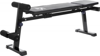 Скамья универсальная GrozzМногофункциональная скамья от grozz позволяет выполнять комплекс силовых упражнений на мышцы груди, плеч, спины, пресса и рук.<br>Тренируемые группы мышц: Спина, грудь, руки, плечи; Максимальная нагрузка, кг: 100; Максимальный вес пользователя: 120 кг; Регулировки: 4 уровня регулировки спинки, отрицательный уклон скамьи; Складная конструкция: Есть; Размер в рабочем состоянии (дл. х шир. х выс), см: 151 x 35 x 19; Размер в сложенном виде (дл. х шир. х выс), см: 135 x 35 x 58; Вид спорта: Силовые тренировки; Производитель: Grozz; Артикул производителя: GSPU1; Срок гарантии: 2 года; Размер RU: Без размера;