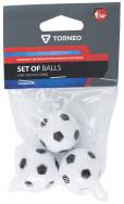 Комплект мячей для настольного футбола 3 шт. Torneo