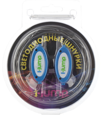 Шнурки светодиодные I-JumpШнурки со встроенными светодиодами разработаны специально для увеличения безопасности при занятии спортом в условиях плохой видимости.<br>Пол: Мужской; Возраст: Взрослые; Вид спорта: Аксессуары; Материалы: 35 % силикон, 15 % полиэтилентерефталат, 15 % пластик, 15 % светодиоды, 10% плата, 5 % картон, 5 % провод МГТФ; Длина: 75 см; Производитель: I-Jump; Артикул производителя: SD-005-BLUE; Страна производства: Китай; Размер RU: 75;