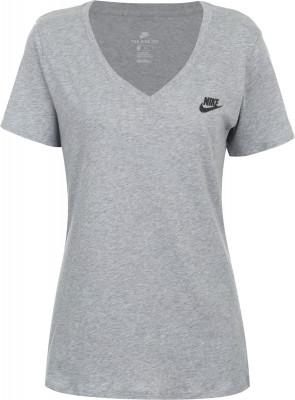 Футболка женская Nike SportswearЖенская футболка от nike идеально завершит образ в спортивном стиле. Натуральные материалы ткань выполнена из мягкого и гипоаллергенного хлопка.<br>Пол: Женский; Возраст: Взрослые; Вид спорта: Спортивный стиль; Покрой: Прямой; Материалы: 100 % хлопок; Производитель: Nike; Артикул производителя: 918619-063; Страна производства: Египет; Размер RU: 50-52;