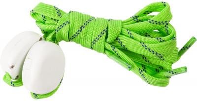 Шнурки светодиодные детские I-JumpШнурки со встроенными светодиодами разработаны специально для увеличения безопасности при занятии спортом в условиях плохой видимости.<br>Пол: Мужской; Возраст: Дети; Вид спорта: Аксессуары; Материалы: 35 % нейлон, 20 % пластик, 18 % полиэтилентерефталат, 10 % провод МГТФ, 10 % светодиоды, 7 % картон; Длина: 90 см; Производитель: I-Jump; Артикул производителя: ND-004-090-GR; Страна производства: Китай; Размер RU: 90;