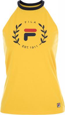 Майка женская Fila, размер 46Майки<br>Оригинальный крой и графика в фирменном стиле бренда делают майку fila идеальным завершением образа в спортивном стиле.