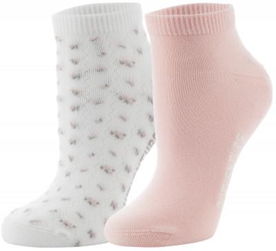 Носки женские Outventure, 2 парыУдобные хлопковые носки outventure. Эластичная ткань обеспечивает плотную комфортную посадку. В упаковке 2 пары.<br>Пол: Женский; Возраст: Взрослые; Вид спорта: Активный отдых; Материал верха: 73 % хлопок, 25 % нейлон, 2 % эластан; Материалы: 73 % хлопок, 25 % нейлон, 2 % эластан; Производитель: Outventure; Артикул производителя: KWS401CKM; Страна производства: Пакистан; Размер RU: 39-42;