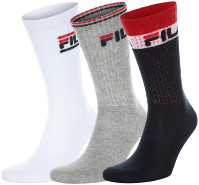 Носки FILA, 3 пары, размер 35-38