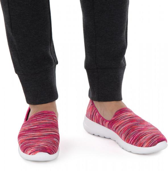 381279a9a Слипоны женские Skechers Go Walk Joy-Terrific розовый/бирюзовый цвет —  купить за 3799 руб. в интернет-магазине Спортмастер