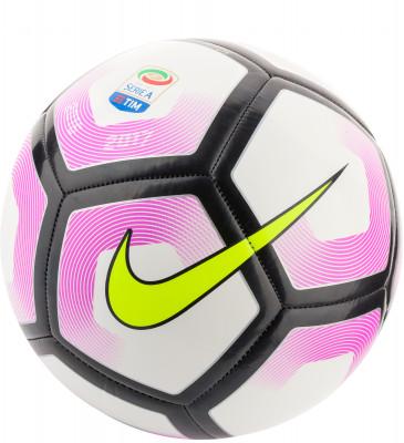 Мяч футбольный Nike Pitch Serie AФутбольный мяч serie a pitch от nike - отличный выбор для игр и тренировок. Прочность дизайн из 32 панелей, соединенных машинной сшивкой, гарантирует долговечность.<br>Сезон: 2017; Возраст: Взрослые; Вид спорта: Футбол; Тип поверхности: Универсальные; Назначение: Тренировочные; Материал покрышки: Синтетическая кожа; Материал камеры: Бутил; Способ соединения панелей: Машинная сшивка; Количество панелей: 32; Вес, кг: 0,44; Производитель: Nike; Артикул производителя: SC2991-100; Страна производства: Китай; Размер RU: 5;