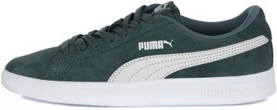 Кеды для мальчиков Puma Smash v2 SD, размер 34,5Кеды <br>Классика от puma для юных любителей спортивного стиля - удобные замшевые кроссовки smash v2. Комфорт обновленная колодка обеспечивает комфорт.