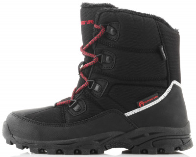 Ботинки утепленные для мальчиков Outventure PolarУтепленные ботинки для детей станут отличным выбором для походов и активного отдыха в холодное время года.<br>Пол: Мужской; Возраст: Дети; Вид спорта: Походы; Мембранная ткань: Нет; Способ застегивания: Быстрая шнуровка; Водоотталкивающая пропитка: Да; Материал верха: 62 % полиэстер, 38 % синтетическая кожа; Материал подкладки: 100 % полиэстер; Материал стельки: 100 % полиэстер; Материал подошвы: Термопластичная резина; Технологии: ADD DRY Water Resistant; Производитель: Outventure; Артикул производителя: UHI0059935; Страна производства: Китай; Размер RU: 35;