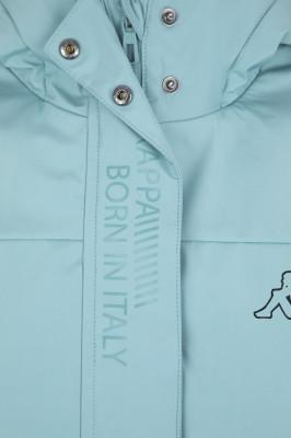 Фото 5 - Куртку утепленная для девочек Kappa, размер 152 синего цвета