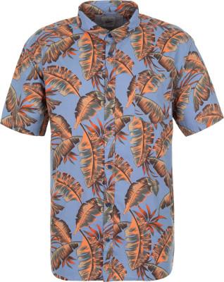 Рубашка мужская Quiksilver, размер 50-52Surf Style <br>Удобная и легкая рубашка quiksilver с оригинальным принтом - идеальный выбор для летних дней. Свобода движений продуманный прямой крой не стесняет движения.