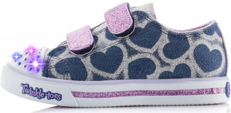 Кеды для девочек Skechers Glitter Printed Heart