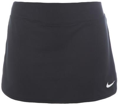 Юбка-шорты для тенниса женская Nike PureТеннисная юбка-шорты nike pure гарантирует максимальное удобство на корте. Свобода движений изогнутая нижняя кромка позволяет двигаться максимально естественно.<br>Пол: Женский; Возраст: Взрослые; Вид спорта: Теннис; Внутренние шорты: Есть; Технологии: Nike Dri-FIT; Производитель: Nike; Артикул производителя: 728777-010; Страна производства: Камбоджа; Материал верха: 81 % полиэстер, 19 % эластан; Размер RU: 40-42;