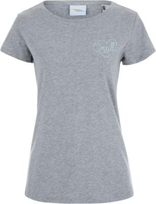 Футболка женская ONeill Lw Flower, размер 48-50Surf Style <br>Женская футболка от o neill прекрасно подойдет для активного отдыха на пляже. Свобода движений благодаря свободному крою футболка не стесняет движения.