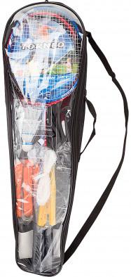 Набор для бадминтона Torneo (2 ракетки, 2 волана, сетка со стойками, разметка, чехол)