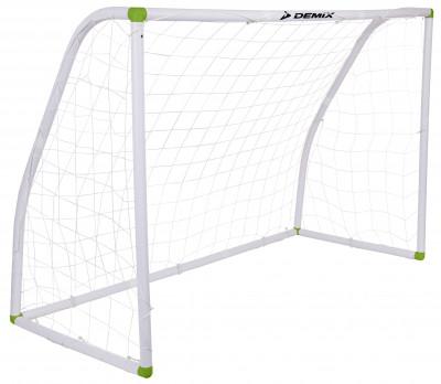 Ворота футбольные DemixРазборные футбольные ворота. Размеры ворот в установленном состоянии составляют 182 x 120 x 80 см.<br>Вес, кг: 4; Размеры (дл х шир х выс), см: 182 х 120 х 80; Размер упаковки: 89,5 х 12,8 х 27 см; Вид спорта: Футбол; Производитель: Demix; Артикул производителя: EDEAU001W1; Срок гарантии: 6 месяцев; Страна производства: Китай; Размер RU: Без размера;