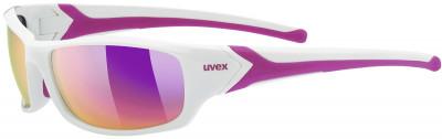 Солнцезащитные очки UvexУниверсальные очки uvex для защиты от солнца во время занятий бегом или катания на велосипеде.<br>Цвет линз: Розовый зеркальный; Назначение: Бег,велоспорт; Пол: Мужской; Возраст: Взрослые; Вид спорта: Бег, Велоспорт; Ультрафиолетовый фильтр: Да; Зеркальное напыление: Да; Материал линз: Поликарбонат; Оправа: Пластик; Технологии: 100% UVA- UVB- UVC-PROTECTION, LITEMIRROR; Производитель: Uvex; Артикул производителя: S5306138316; Срок гарантии: 1 месяц; Страна производства: Тайвань; Размер RU: Без размера;