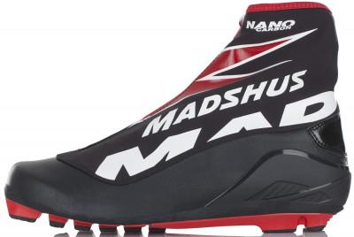 Ботинки для беговых лыж Madshus Nano Carbon ClassicКлассические ботинки для соревнований с превосходными характеристиками, которые подойдут продвинутым лыжникам.<br>Сезон: 2016/2017; Назначение: Спортивные; Стиль катания: Классический; Уровень подготовки: Продвинутый; Пол: Мужской; Возраст: Взрослые; Вид спорта: Беговые лыжи; Система креплений: NNN; Система шнуровки: Закрытая; Технологии: Membrain Softshell, RevoWrap; Производитель: Madshus; Артикул производителя: N164005; Срок гарантии: 1 год; Страна производства: Таиланд; Размер RU: 41;