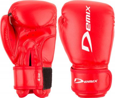 Перчатки боксерские детские DemixБоксерские перчатки из прочной искусственной кожи.<br>Вес, кг: 0,113; Тип фиксации: Липучка; Материал верха: Искусственная кожа; Материал наполнителя: Полиуретан; Материал подкладки: Полиэстер; Вид спорта: Бокс; Технологии: Memory Foam Demix; Производитель: Demix; Артикул производителя: DCS-201R4; Срок гарантии: 3 месяца; Страна производства: Пакистан; Размер RU: 4 oz;