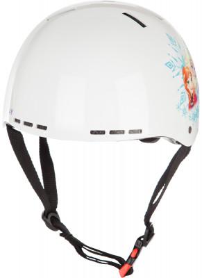Шлем детский Nordway FrozenДетский шлем от nordway обеспечит для безопасность вашего ребенка во время катания на коньках.<br>Пол: Женский; Возраст: Дети; Вид спорта: Активный отдых; Уровень подготовки: Начинающий; Материал подкладки: Пенополистирол; Конструкция: Hard shell; Регулировка размера: Да; Тип регулировки размера: С помощью маховика-регулятора; Материал внешней раковины: Ударопрочный пластик; Материал корпуса: Ударопрочный пластик; Вентиляция: Принудительная; Вес, кг: 0,400; Производитель: Nordway; Артикул производителя: NDHA03300L; Срок гарантии: 1 год; Страна производства: Китай; Размер RU: 57-59;