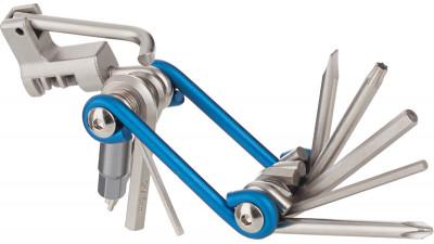 Мультиключ Cyclotech, 11 функцийМультиключ на 11 инструментов, среди которых - набор шестигранных ключей, плоская и крестовая отвертки, выжимка цепи.<br>Пол: Мужской; Возраст: Взрослые; Вид спорта: Велоспорт; Состав: Металл; Производитель: Cyclotech; Артикул производителя: CT-12; Срок гарантии: 6 месяцев; Страна производства: Тайвань; Размер RU: Без размера;