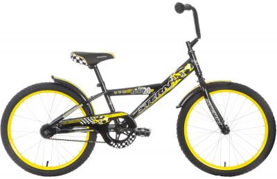 Велосипед подростковый для мальчиков Stern Rocket 20Велосипед с размером колеса 20 дюймов и удобным ножным тормозом для мальчиков в возрасте от 6 до 9 лет. Прочность в модели предусмотрена надежная стальная рама hi-ten steel.<br>Материал рамы: Сталь; Амортизация: Rigid; Конструкция рулевой колонки: Неинтегрированная; Конструкция вилки: Жесткая; Количество скоростей: 1; Конструкция педалей: Классические; Тип заднего тормоза: Ножной; Диаметр колеса: 20; Тип обода: Одинарный; Материал обода: Сталь; Наименование покрышек: WANDA P104/WANDA P1023; Возможность крепления боковых колес: Есть; Конструкция руля: Изогнутый; Регулировка седла: Есть; Сезон: 2017; Максимальный вес пользователя: 50 кг; Вид спорта: Велоспорт; Технологии: Hi-ten steel; Производитель: Stern; Артикул производителя: 16ROCK20; Срок гарантии: 2 года; Вес, кг: 11,4; Страна производства: Китай; Размер RU: Без размера;
