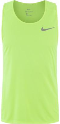 Майка мужская Nike Dry MilerМужская майка от nike станет отличным вариантом для пробежек. Отведение влаги ткань nike dry с технологией nike dri-fit гарантирует хороший влагоотвод.<br>Пол: Мужской; Возраст: Взрослые; Вид спорта: Бег; Светоотражающие элементы: Есть; Материалы: 100 % полиэстер; Технологии: Nike Dri-FIT; Производитель: Nike; Артикул производителя: 833589-702; Страна производства: Камбоджа; Размер RU: 48;