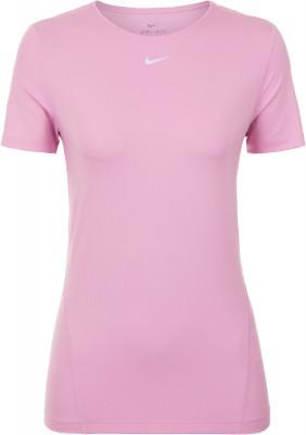 Футболка женская Nike Pro, размер 46-48Футболки<br>Комфортная и воздухопроницаемая футболка nike pro - идеальный выбор для фитнеса. Отведение влаги технологичная ткань dri-fit эффективно отводит влагу от тела.